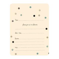 An April Idea confetti teal invitations (pack of 10)
