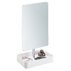 Interdesign Gia rectangular vanity mirror with storage tray
