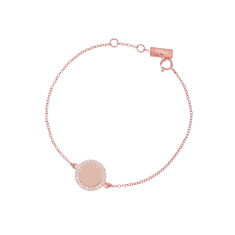 Personalised cosmos bracelet in rose gold vermeil