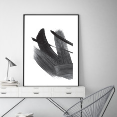 Abstract strokes #2 art print