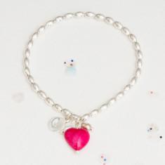 Alice stone heart bracelet
