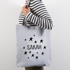 Personalised tote shopping bag