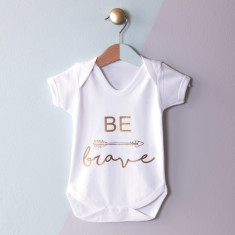 Personalised Be Brave Baby Grow