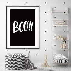 Boo! art print (various sizes)