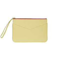 Lena clutch in apple green leather
