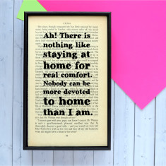 Jane Austen house warming print