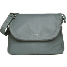 Il Tutto Ryder Leather Satchel Baby Bag in Denim