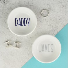 Personalised Mens Jewellery & Cufflink Dish