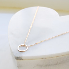 Circle of love necklace in rose gold