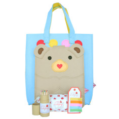 Little Lady Felt Tote Bag Stationary Pack