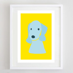 Bedlington Terrier print