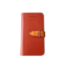 Classic snap leather iPhone 6 case in brown