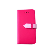 Classic snap leather iPhone 5 case in pink