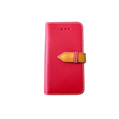 Classic snap leather iPhone 4/4S case in red