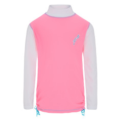 Girls' UPF 50+ long sleeve rashie with ruching