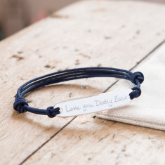 Men's Personalised Sterling Silver Identity bracelet