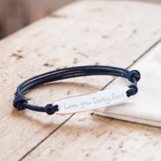 Men's Personalised Sterling Silver Identity bracelet