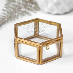 Personalised Baby's First Christmas Mini Hexagon Box