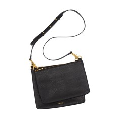 Duo cross body bag in black