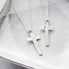 Silver Maxi Cross Necklace