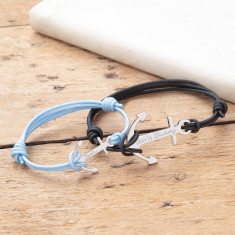 Daddy & Me Personalised Anchor Bracelet Duo