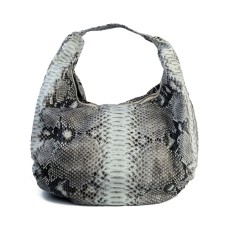 Python leather short shoulder strap hobo bag