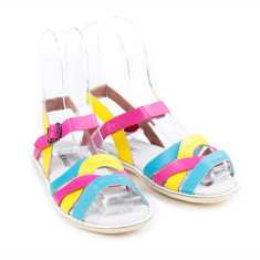 Kids' coast leather sandals in rainbow
