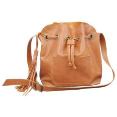 Handmade leather bucket bag