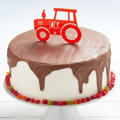 Personalised Tractor Birthday Cake Topper