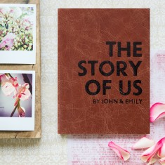 The Story of Us - Personalised Leather Notebook/Journal
