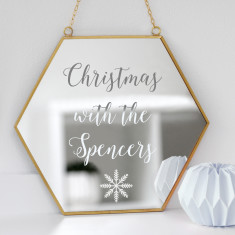 Personalised Family Christmas Mirror