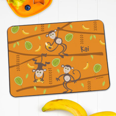 Monkey business personalised placemat