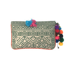 Kavali Pocket Clutch - Olive