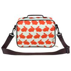 Kissing Rabbits Insulated Lunch Bag