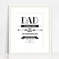 I love you this much personalised print