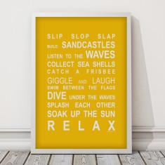 Beach rules print