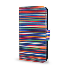 Blurry Lines Colorful Smartphone Wallet Case