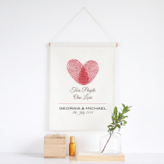 Two People One Love personalised wall banner