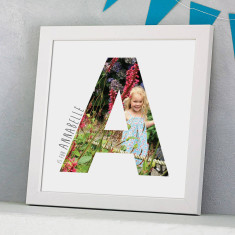 Personalised Framed Photograph Initial Print