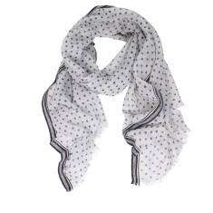 Sasha pure wool spot print scarf (2 colours available)