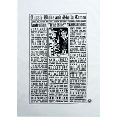 True blue Aussie bloke & Sheila slang tea towel