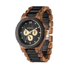 WeWood Kappa Zebrano Wood Watch