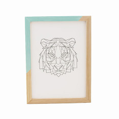 Geometric tiger framed print