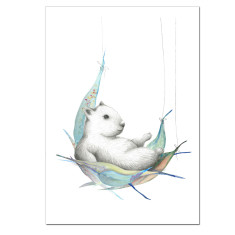 Wombat Australiana Print