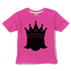 Kids' chalkboard t-shirt in princess design