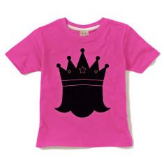 Kids' chalkboard t-shirt in princess design