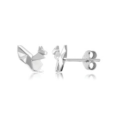 Squirrel Origami Stud Earrings
