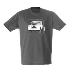 Landrover men's tee in charcoal