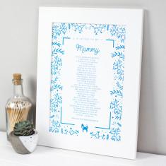 Mummy Poem Scandi Print