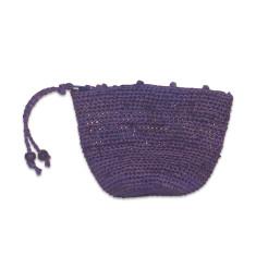 Abel raffia purse (various colours)